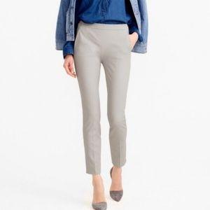 J. Crew Martie Slim Crop Pants Cotton Gray Work